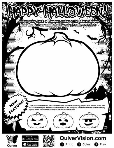 An Augmented Reality Halloween Quiver Coloring Pages Education