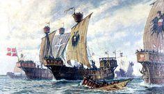 Die Blütezeit der Hanse fällt in das 14. und 15. Jh. Dank des Einsatzes eines neuen Schiffstyps, der Kogge, und einer überlegenen Handelskonzeption, die ihr Hauptaugenmerk dem Transport spezieller Güter zuwendet, behauptet sich die Hanse gut