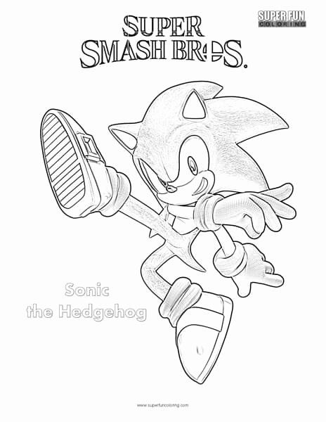 Mario Bros Coloring Books Beautiful Sonic The Hedgehog Super Smash Brothers Coloring Page Superhero Coloring Pages Coloring Books Coloring Pages