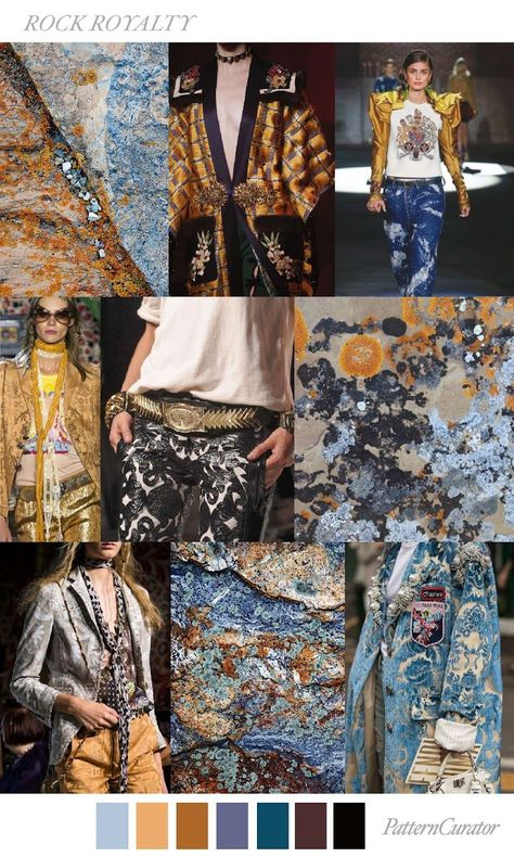 TRENDS // PATTERN CURATOR - ROCK ROYALITY . FW 2018 (FASHION VIGNETTE) - Lisa Krows - #CURATOR #Fashion #FW #Krows #Lisa #pattern #rock #ROYALITY #Trends #VIGNETTE