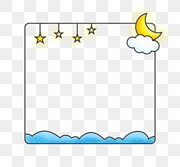 만화 별 달 테두리 만화 자유형 귀여운 경계 무료 다운로드 만화 구름 장식 만화 테두리무료 다운로드를위한 Png 및 Psd 파일 Clip Art Borders Star Clipart Photo Album Scrapbooking
