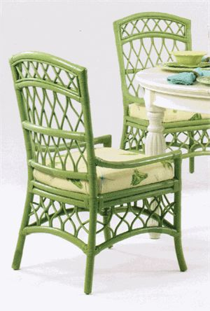 Cottage Walk Rattan Chair Love The Green Color Muebles