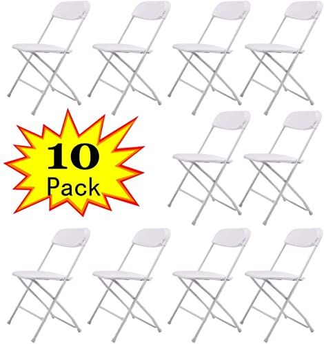 Buy Sandinrayli 10 Pack White Plastic Folding Chair Commercial Quality Stackable Outdoor Event Chair Online Lovetopfashion In 2020 Plastic Folding Chairs Folding Chair Plastic Patio Chairs
