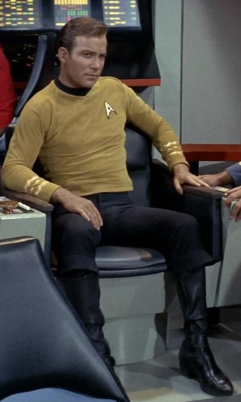 Captain James T. Kirk - William Shatner in 'The Star Trek' films.