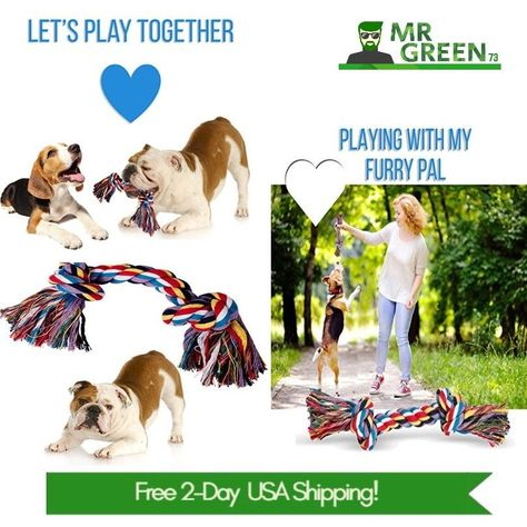 Rope Bone Dog Toy Incredible Extra Durable Tough Dog Chew Toy For