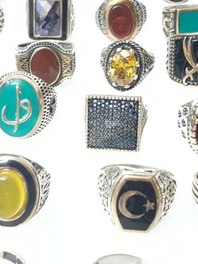 خاتم فضة عيار 925 خواتم فضة تركي عيار ٩٢٥ بيعة جمله تحفة بسعر رائع للتجار او الهواه او للهدايا البيعة تشمل مجموعه خواتم م Gemstone Rings Jewelry Gemstones