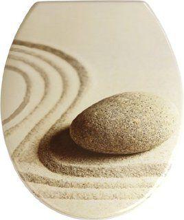 Wenko 19651100 Asiento Tapa Wc Sand And Stone Sujeción De