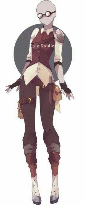Her Favorite Outfit Drawing Clothes Steampunk Clothing Anime