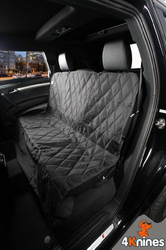 Black Dog Seat Cover Water Resistant Quilted Rear Bench Protector With The Best Nonslip