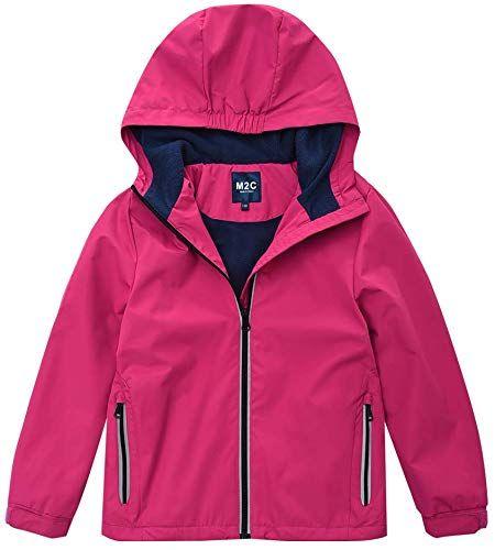 M2C Girls Boys Hooded Patterned Fleece Lined Waterproof Jacket