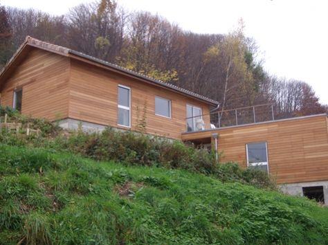 Terrain en pente - Maison individuelle BBC RT2012 plans maison - maison sur terrain en pente