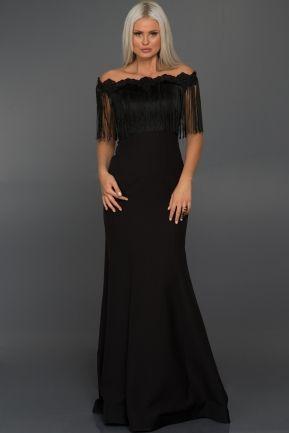 Uzun Siyah Omuz Dekolteli Puskullu Balik Abiye C7234 Elbiseler Elbise Elbise Modelleri