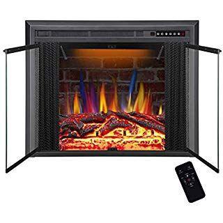 Savannah Masonry Glass Fireplace Door In Textured Black
