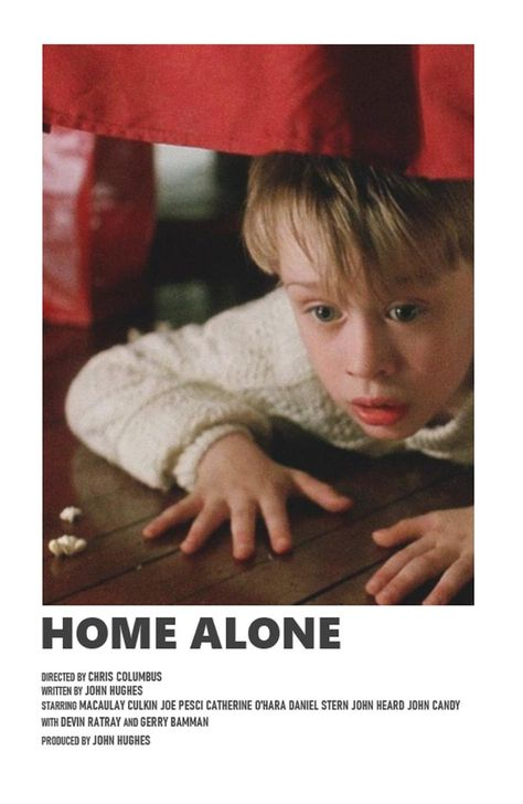 Home Alone minimal A6 movie poster