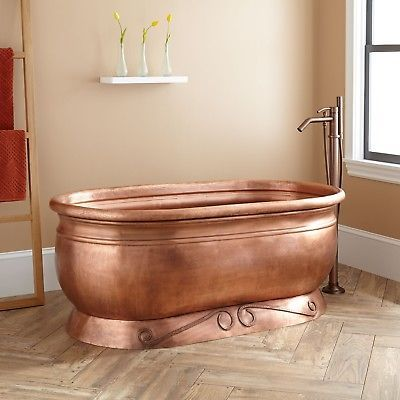 Bathtubs 42025 Signature Hardware 58 Henna Smooth Copper Pedestal Tub Buy It Now Only 2999 On Ebay Bathtubs Signature Hardware Henna Smo Pedestal Tub