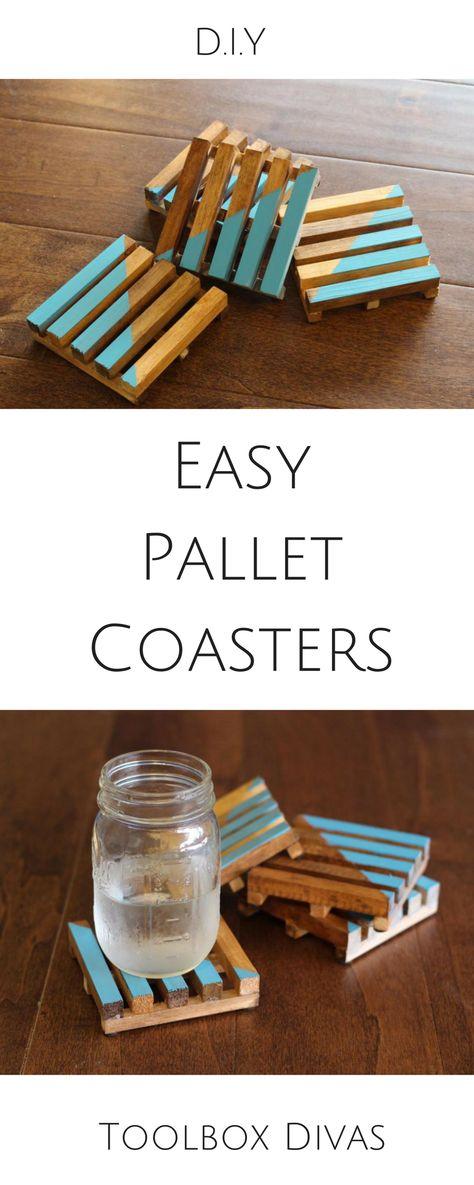 Easy DIY Pallet Coasters - ToolBox Divas