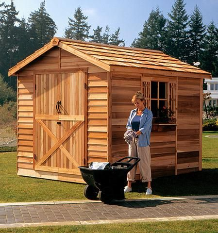Ranchers Large Shed Kits Cedar Shed Building A Shed Shed Kits
