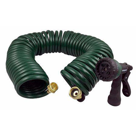 Instapark Ghn 06 Heavy Duty Recoil 3 4 X 50 Garden Hose W Nozzle Walmart Com Garden Hose Water Garden Water Hose
