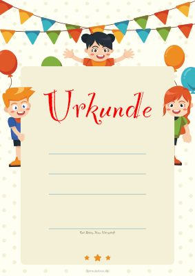Urkunden Kinder Blanko Kinderurkunde Kinder Und Luftballons Urkunde Bewegung Fur Kinder Madchen Geburtstagsfeier
