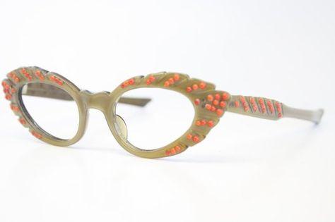 6234b4b285 Piccolo gatto occhiali unici vintage occhiali retrò occhiali Catseye  occhiali cornici d epoca