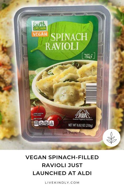 Vegan Spinach Filled Ravioli Just Launched At Aldi Vegan
