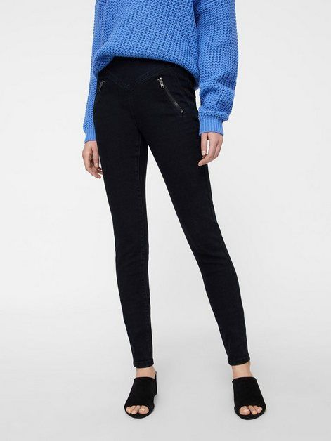 Vero Moda High Waist Skinny Fit Hose Reissverschluss Hinten An Der Taille Online Kaufen Skinny Black Jeans Skinny Fit