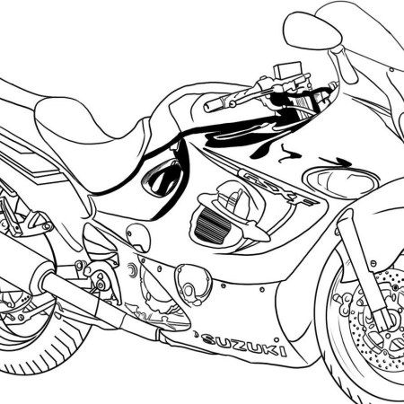 Motorcycle Suzuki Printable Coloring Books Coloring Pages Printable Coloring Book Coloring Books
