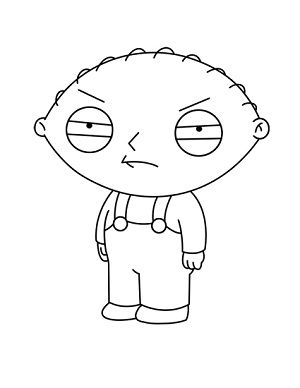 How To Draw Stewie Griffin Simpsons Drawings Stewie Griffin