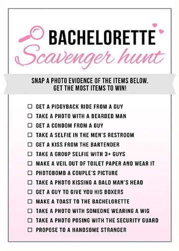 scavenger hunt game bachelorette games printable bridal shower game bachelorette instant download