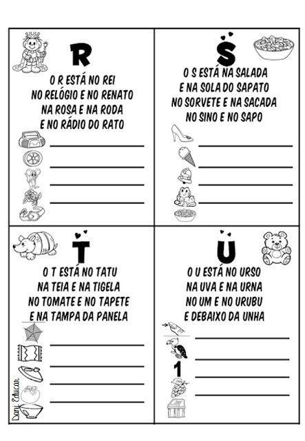 Alfabeto Texto Danieducar Com Imagens Lista De Palavras