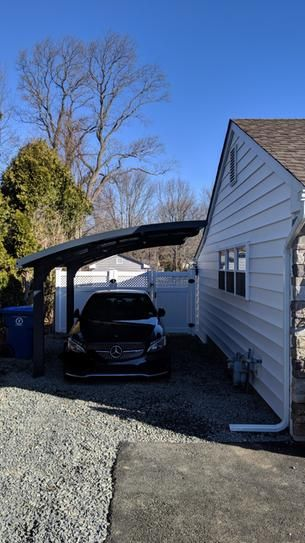 Palram Arizona 5000 Wave 9 Ft 6 In X 16 Ft 3 In X 9 Ft H Carport With Detachable Winter Support Kit 705060 The Home Depot Carport Designs Free Standing Carport Carport