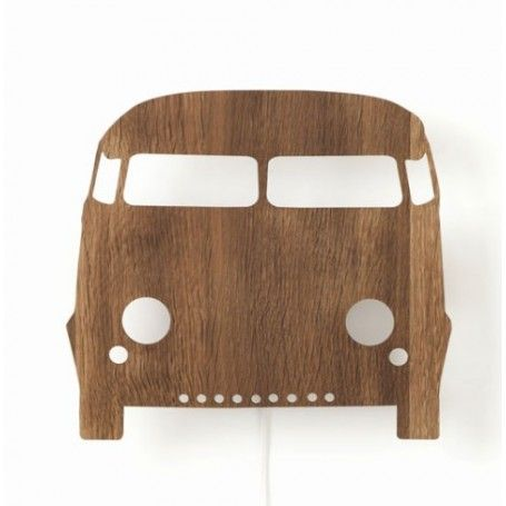 Jut en Juul Lifestyle for Kids : Houten wandlamp  - Car auto