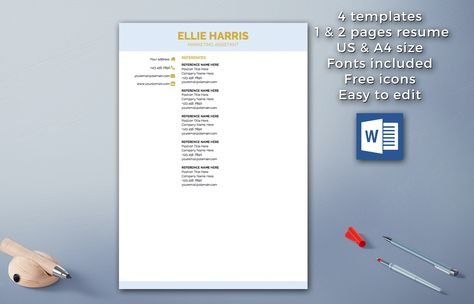 90 best Resume Templates \/ CV Design images on Pinterest Cover - can a resume be 2 pages