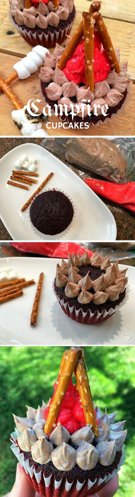 Get the recipe ♥ Campfire Cupcakes #recipes @recipes_to_go