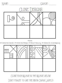Clone Design | art ed in 2019 | Art worksheets, Art handouts ...