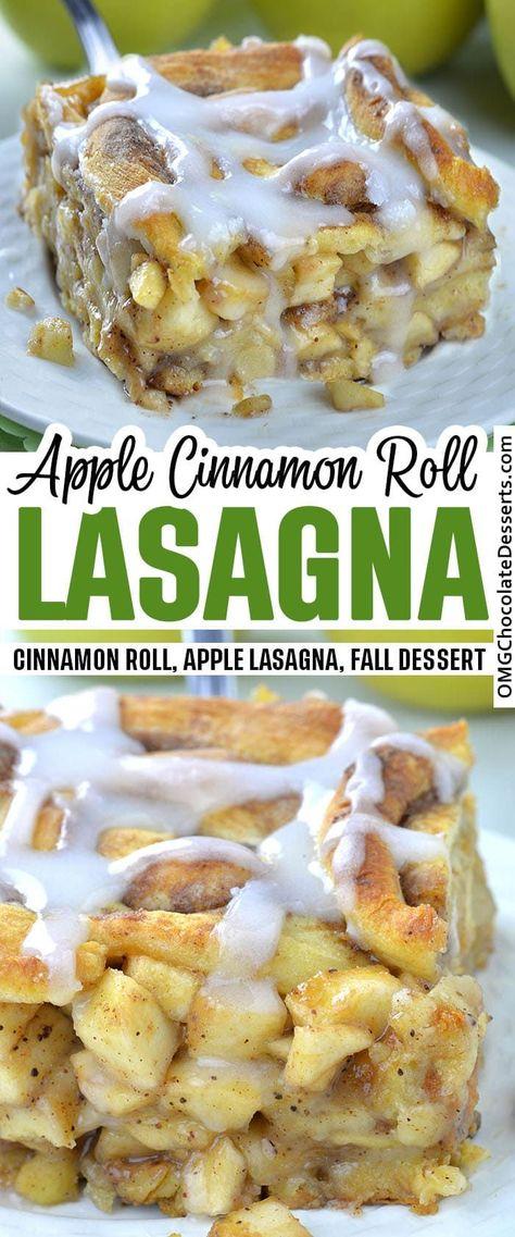 Caramel Apple Cinnamon Roll Lasagna is delicious combo of classic caramel apple pie and cinnamon rolls.Delicious dessert and easy breakfast casserole...