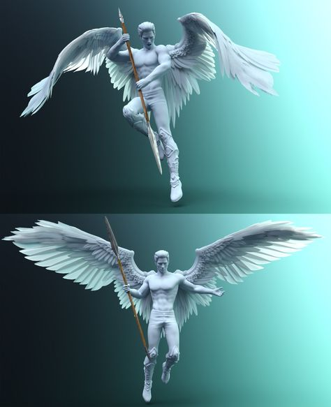 Sacrosanct is a set of 34 epic poses and expressions for Genesis 8 Males, Genesis 8 Females and Morning Star Wings. Wings, poses and expressions can be used alone or mixed and matched for different looks and combinations. Hierarchical poses are Wings Drawing, Angel Drawing, Art Poses, Drawing Poses, Tattoo Model Mann, Male Angels, 3d Art, Angel Warrior, Ange Demon