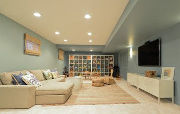 Ken Caryl Ranch-Waverly Mountain - transitional - Basement - Denver - Ashleigh Weatherill Interior Design
