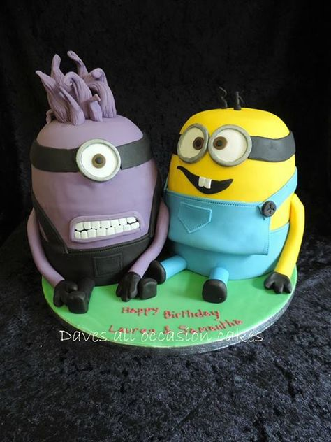 Minions Cake by Dave's All Occasion Cakes, Penryn, Cornwall, UK. You'll find this Cake Appreciation Society Member in our Directory at www.cakeappreciationsociety.com