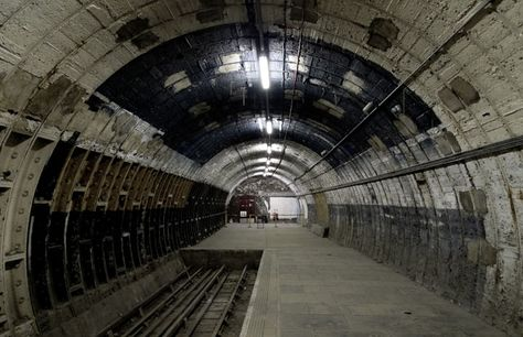 Aldwych Underground Station London. The Aldwych station has become a popular spot for television and film producers who need to shoot scenes set in the underground.