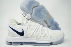 e0afba3287d2 Nike Zoom KD10 Basketball Shoe White Game Royal 897815-101 Mens Size 9.5 -  10