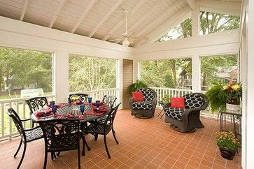 Porch Closed In 3 Season Room Open Rafters Design Ideas Pictures Remodel And Decor Page 16