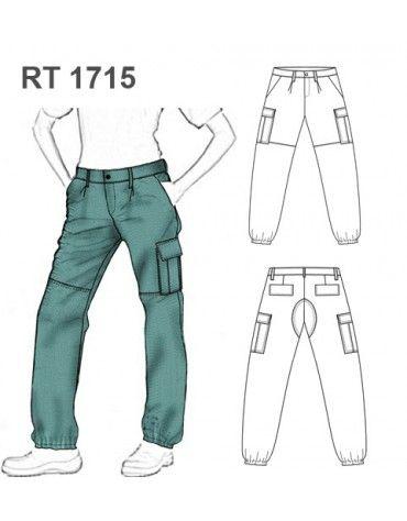 Molde Pantalon Cargo Rt 1715 Pantalones Cargo Mujer Pantalones Cargo Patron De Pantalones