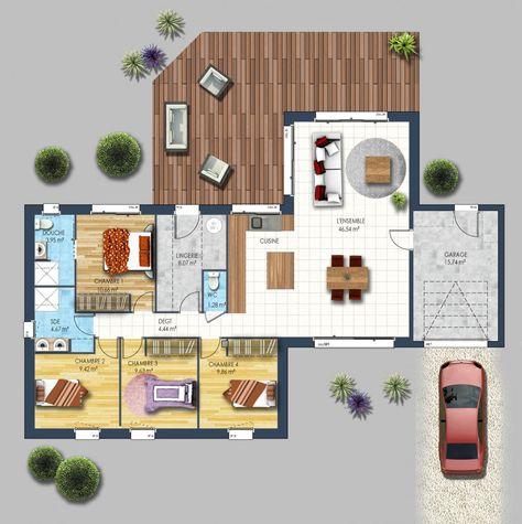 Maison traditionnelle La Chevrolière 44 plan maison Pinterest - logiciel pour faire un plan de maison