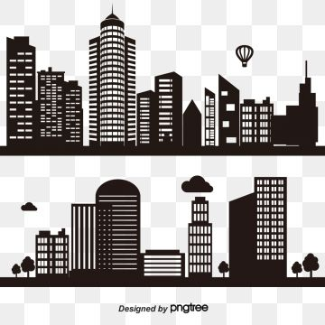 Modern City Skyline City Silhouette Vector Illustration In City Clipart City Icons Modern Icons Png And Vector With Transparent Background For Free Download Building Silhouette City Silhouette City Vector