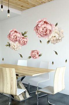 Piwonie Naklejka Na Sciane Duze Kwiaty 100cm Home Decor Home Decor Decals Decor