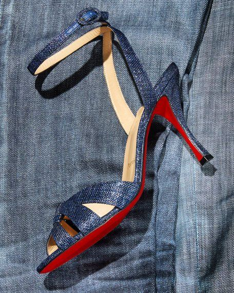 online store 686aa af591 Trezuma 85mm Denim Red Sole Sandal | Me, All About Me | Red ...