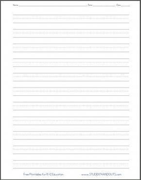 Blank handwriting worksheets information