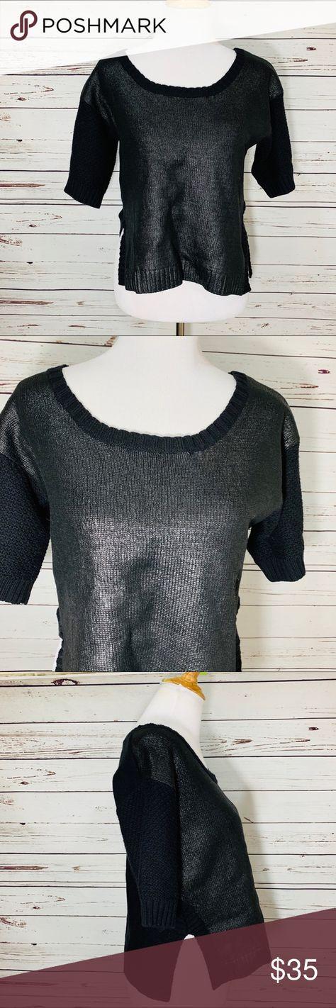 Bohemia de Suecia Chaqueta de lana largo impresionante carbón cocido PVP £ 145 S