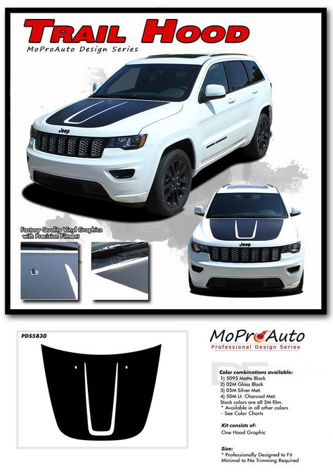 Trail Hood Jeep Grand Cherokee Trailhawk Hood Decal Stripe Vinyl